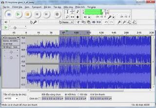 Hướng dẫn biên tâp, xử lý âm thanh với phần mềm Audacity