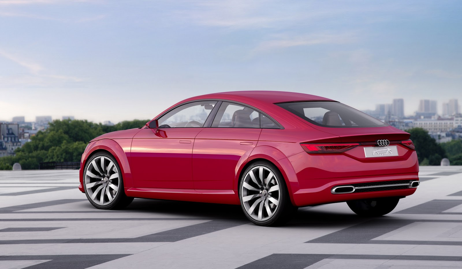 audi 39 s new tt sportback concept revealed ahead of paris show carscoops. Black Bedroom Furniture Sets. Home Design Ideas