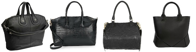 "Three of these are Givenchy bags for $1,190 - $1,890 and one is from KC Jagger for $39.99. Can you guess which one is the ""imposter"" handbag? Click the links below to see if you are correct!"