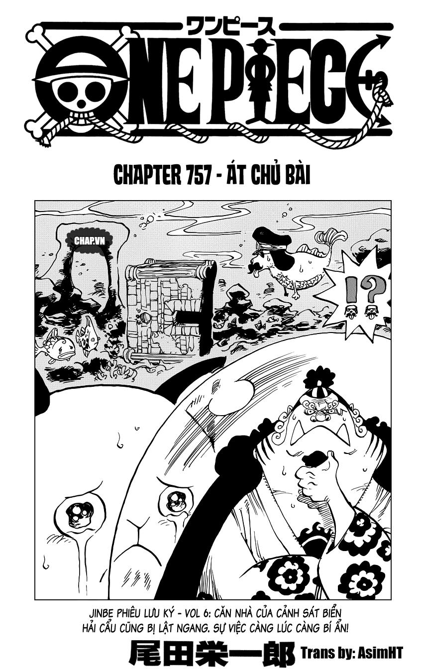 One Piece Chapter 757: Át chủ bài 001