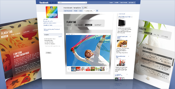 ActiveDen - Translucent - Facebook Fan Page Template