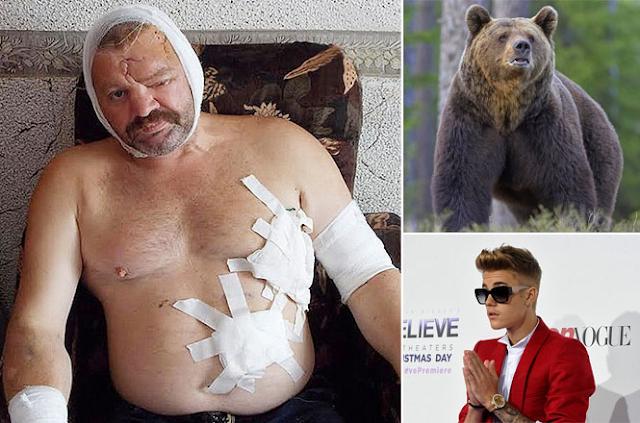Urso ataca homem após ter sido espantado por música de Justin Bieber como toque de celular