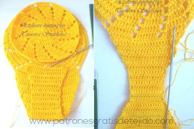 unión de dos circulos para realizar braga crochet bikini