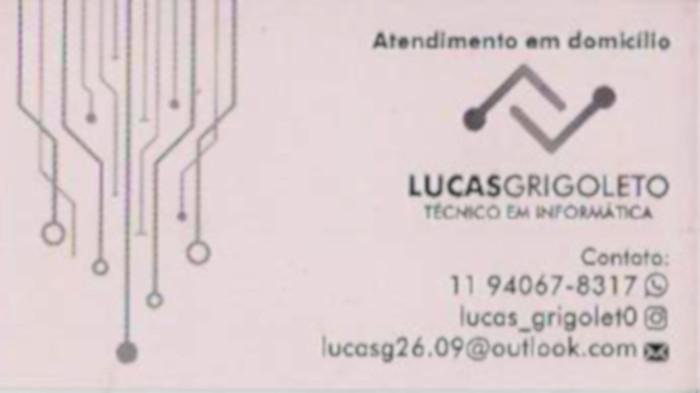 Lucas Grigoleto - técnico informática