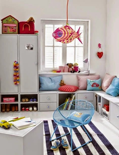 built-ins in kids' rooms