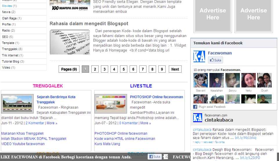 Cara membuat Pages next 123 di blog