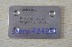 Grabado a laser en placa de aluminio