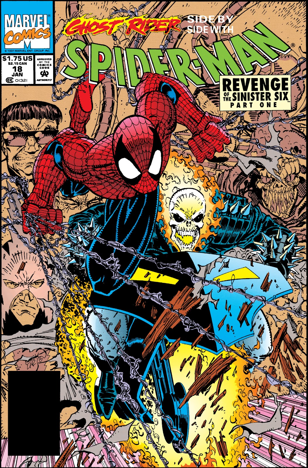 spider man 1990 issue 18 revenge of sinister six page 1