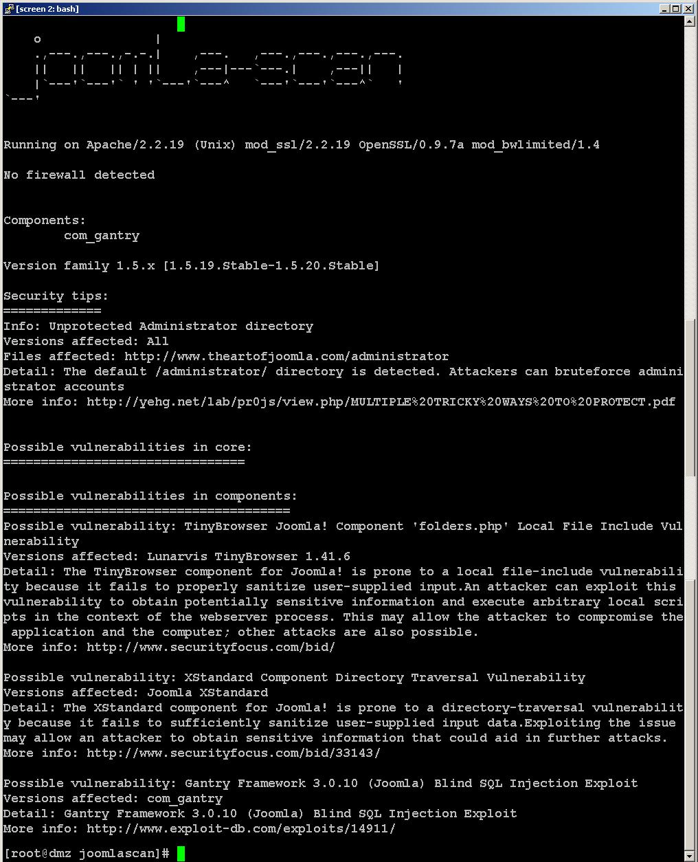 Identificación de vulnerabilidades en CMS: Joomlascan y Plecost ...