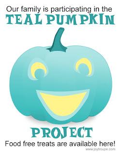 http://www.foodallergy.org/teal-pumpkin-project#.ViakDiu1Nyo