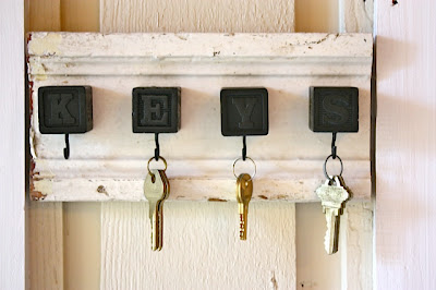 DIY Key Hooks by My Sweet Savannah