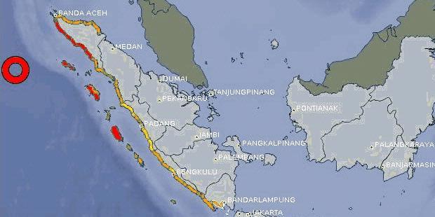 Gempa 8.9 SR Guncang Aceh