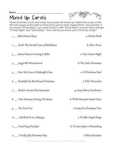 Mixed Up Carols - The Puzzle Den