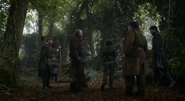 Arya, Gendry, pastel caliente, thoros de myr y anguy - Juego de Tronos en los siete reinos