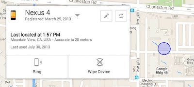 Locate your Stolen Android Device with Google Android Device Manager