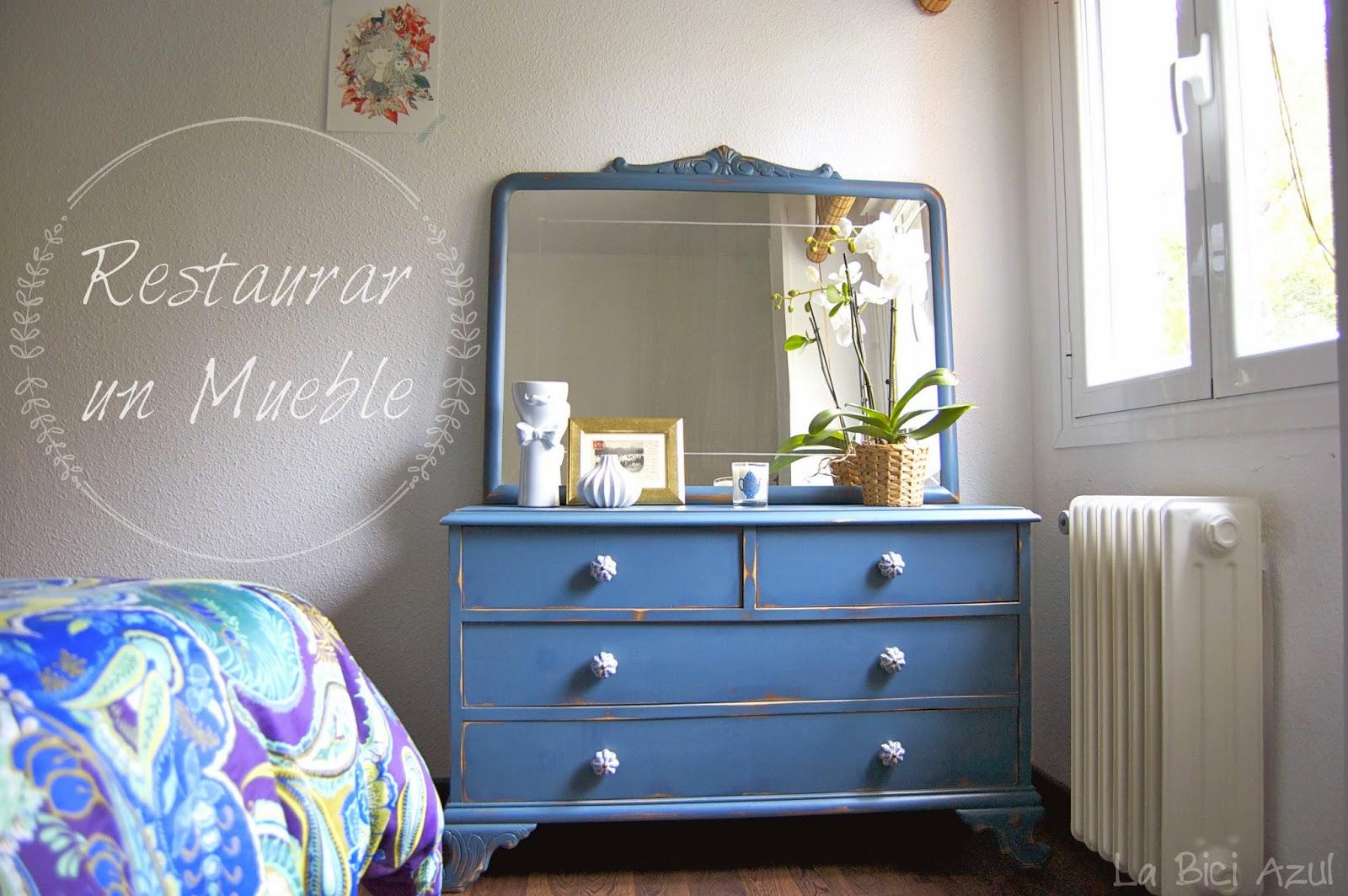 Diy restaurar un mueble de los a os 50 la bici azul - Restaurar mueble madera ...