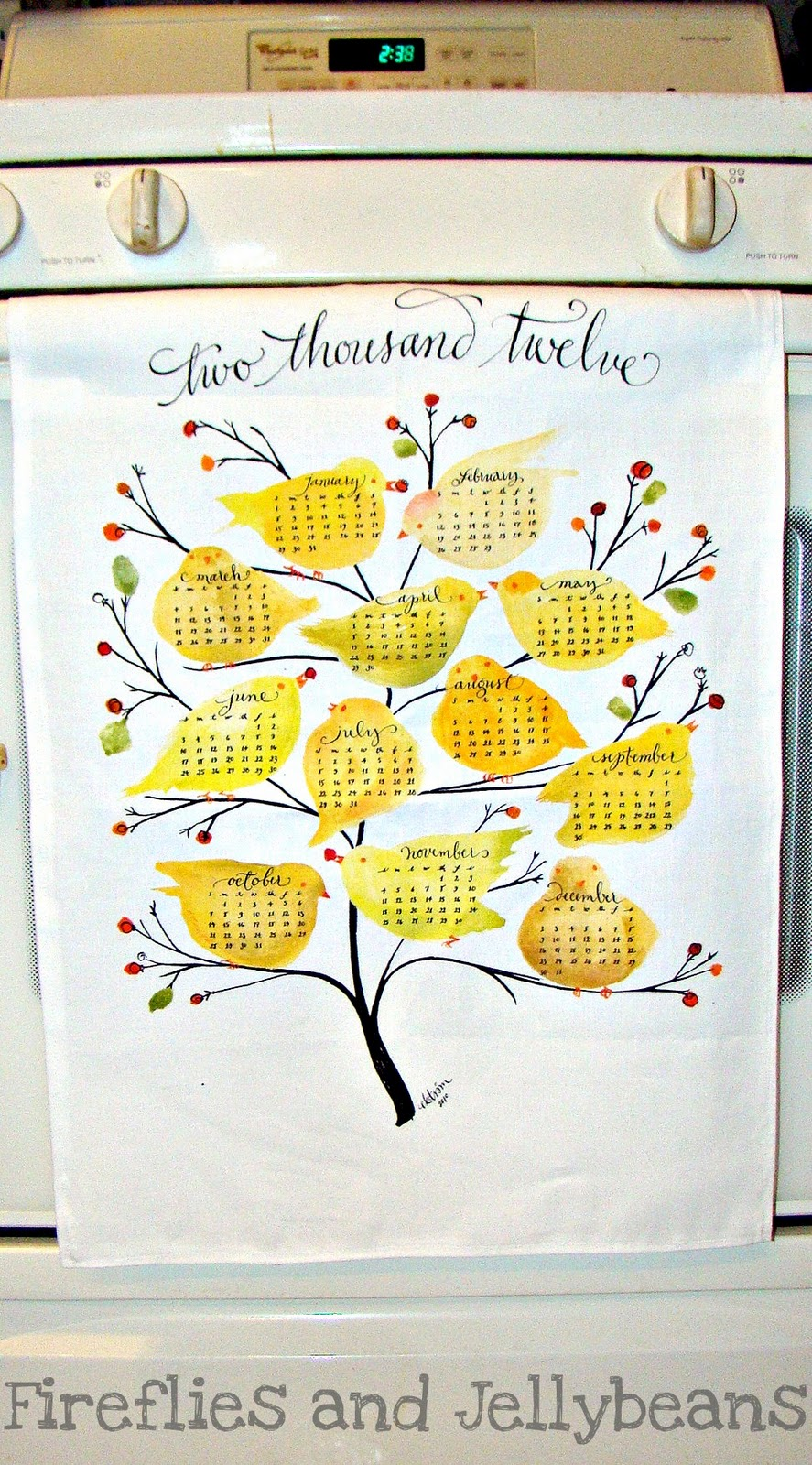 I Also Ordered A Personalize Fabric To Make A Hand Towel To Add To The  Calendar To Complete The Gift. {you Can Use Picnik To Create Your Own  Patterns Or You ...