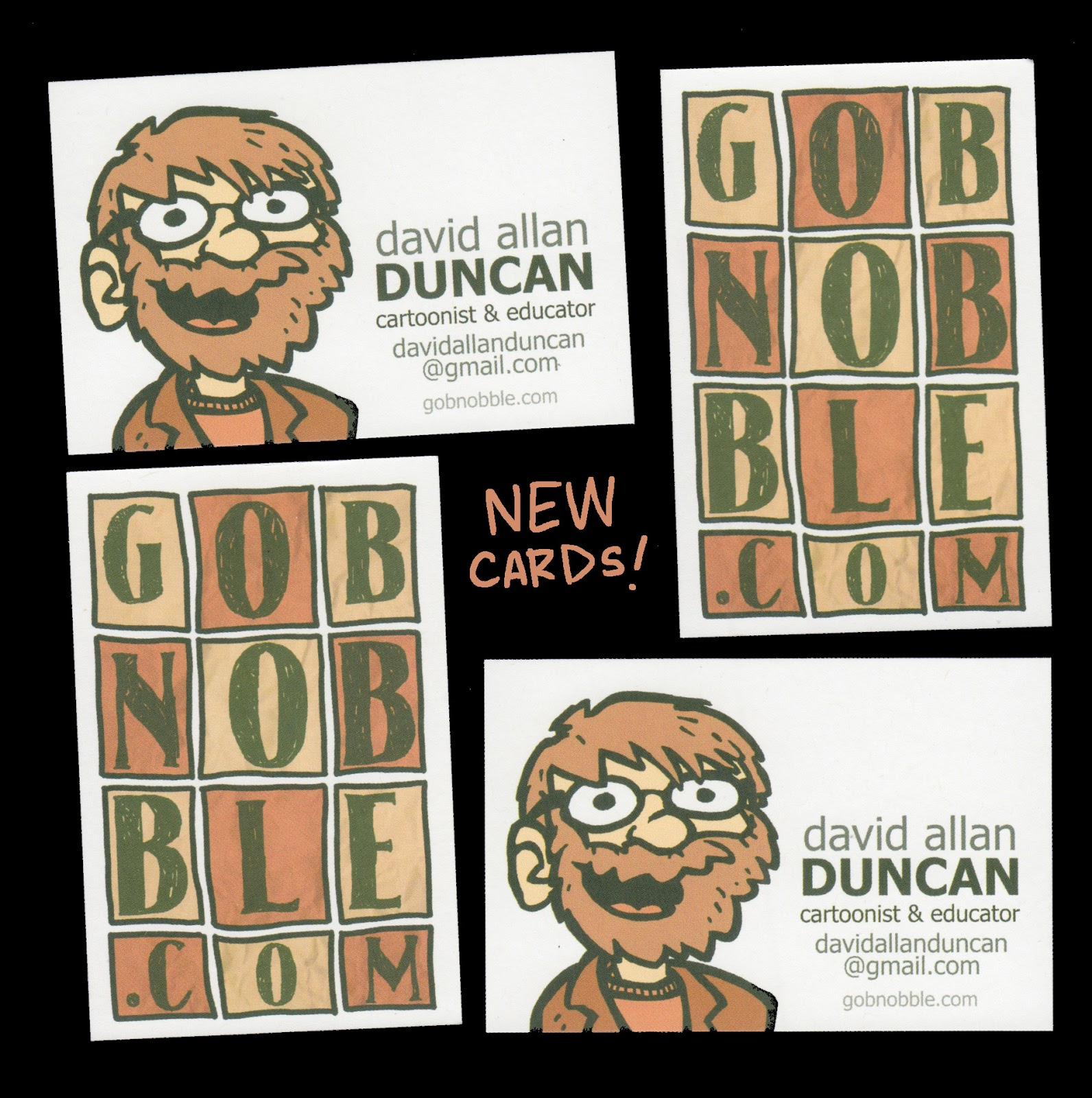 Gobnobble the comic work of david allan duncan new card yo i got some new business cards printed up the older ones were too old and i didnt like them i have scad business cards too but they arent fun at all colourmoves