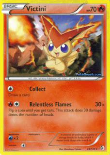 Victini Boundaries Crossed Pokemon Card