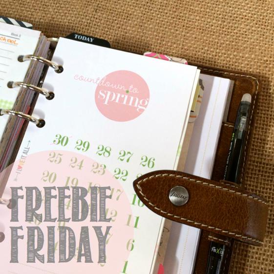 Freebie Friday Spring Countdown | iloveitallwithmonikawright.com