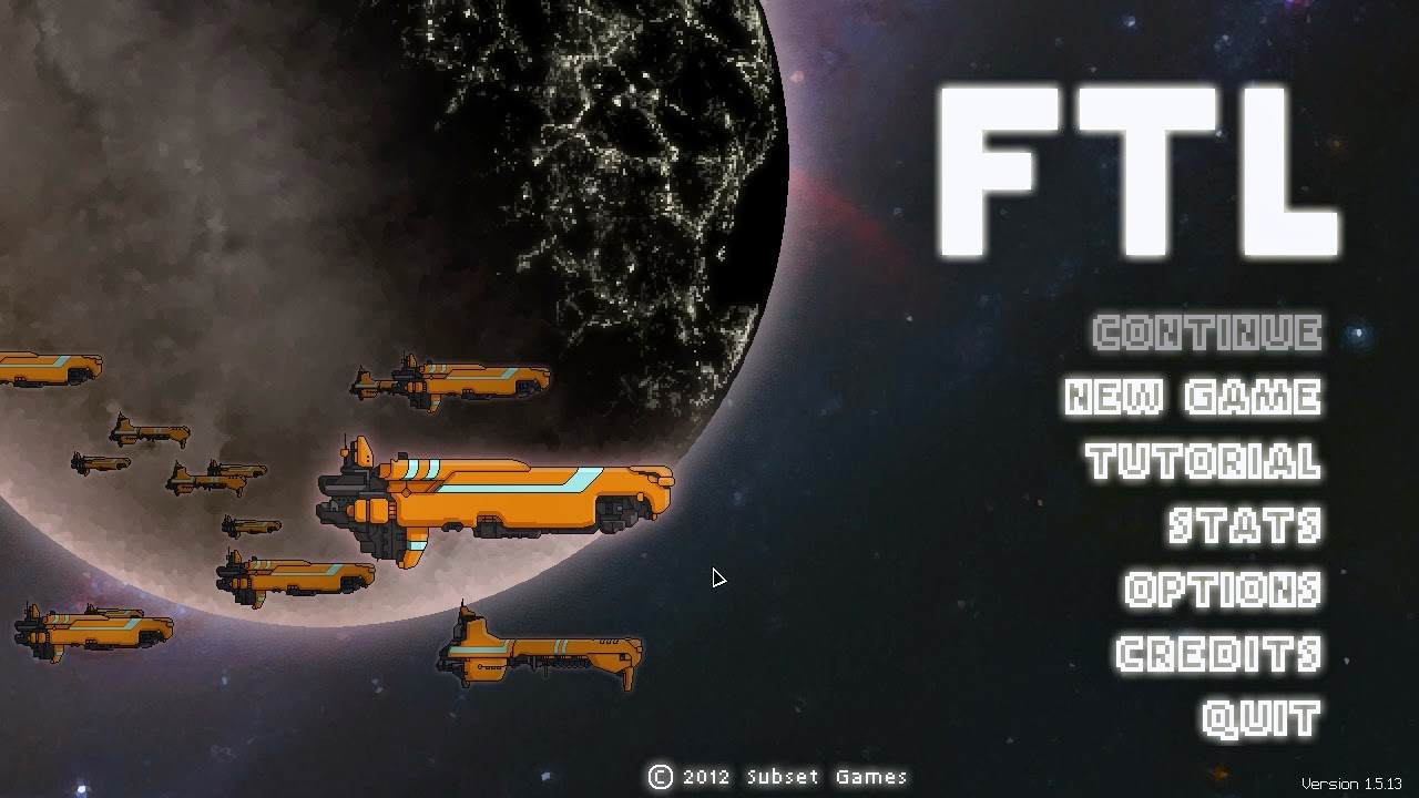 Title screen of FTL featuring the enemies!