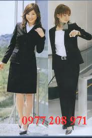 Đồng phục công sở nữ duyên dáng, thanh lịch