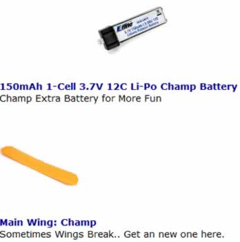 champ rc plane parts images
