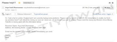 Contoh E-Mail Penipuan