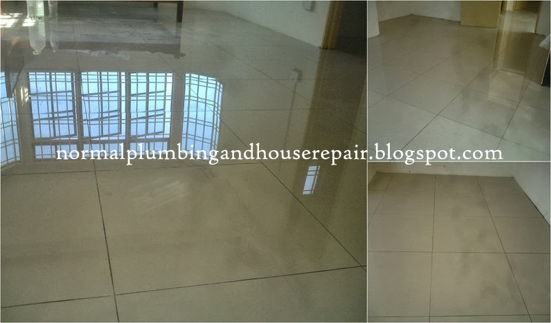 En Zaini Telah Memilih Untuk Memasang Jubin Lantai Bersaiz 2 X 600mm Jenama Luxury Granito Ia Adalah Jenis Berkilat