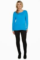 Bluza tricotata moderna, de culoare bleu ( )