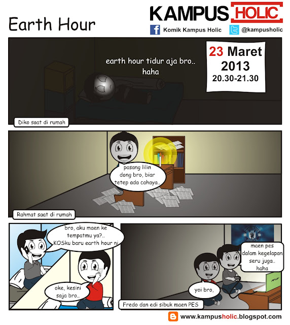 #085 Earth Hour di universitas holic