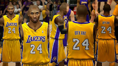 NBA 2K14 LA Lakers Jerseys Mod Pack