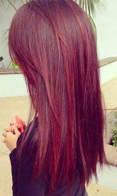 cortes de pelo rojos purpuras para pelo largo 2017