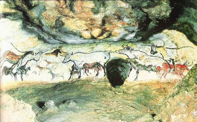 art history hall of bulls and Hall of bulls, lascaux (15,000 bce) prehistoric france hall of the bulls  lascaux (10) prehistoric cave painting in spain and france (22) 4 running  horned.