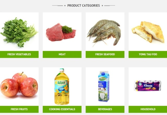 purelyfresh online supermarket product categories