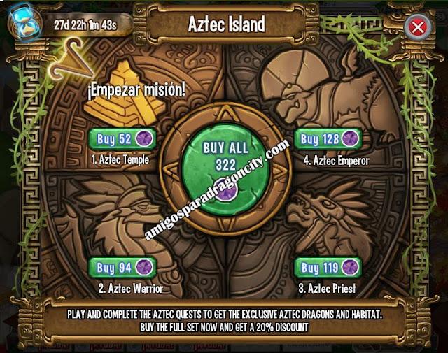 imagen del primer mini juego de la isla azteca de dragon city
