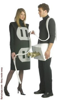 ordering this costume you get black and gray socket costume and white plug costume with cord these costumes are made of a lightweight durable fabric over