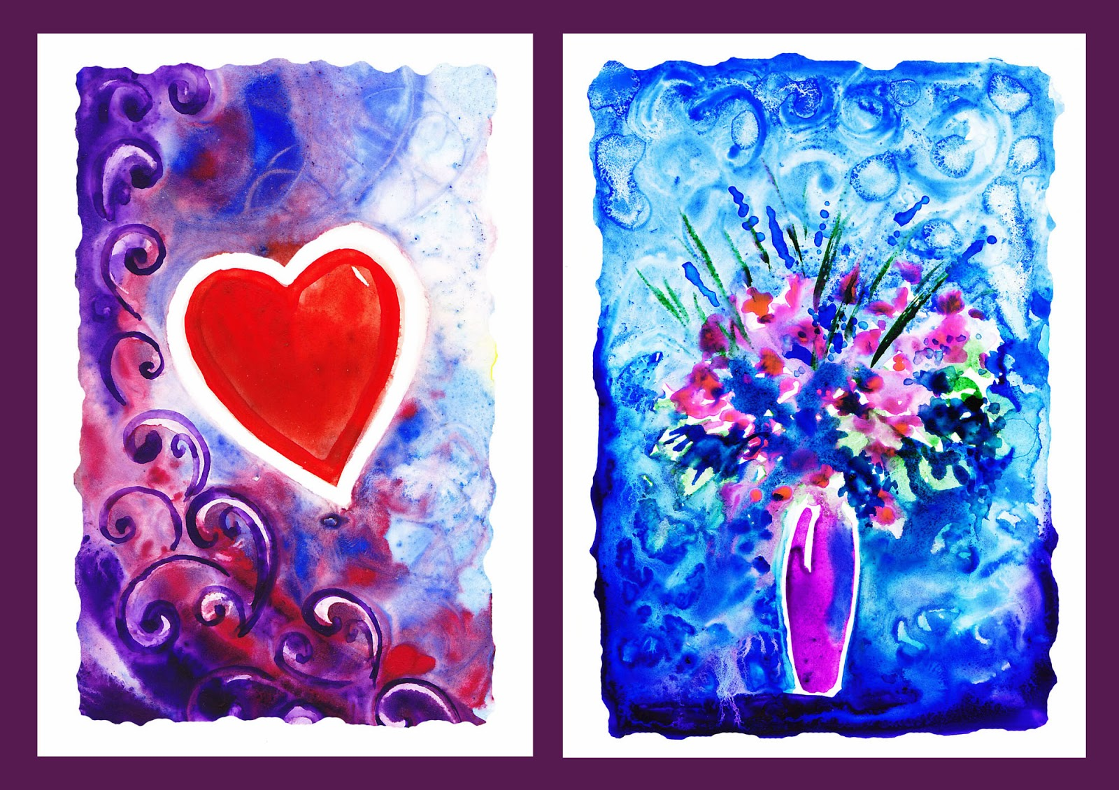 Heart and Flower Painting