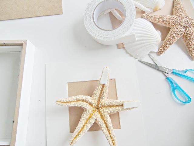 Decoraci n f cil diy cuadros realizados con conchas y for Decoracion marinera ikea