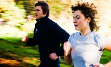 Spring Date Ideas - man woman sport run running jogging