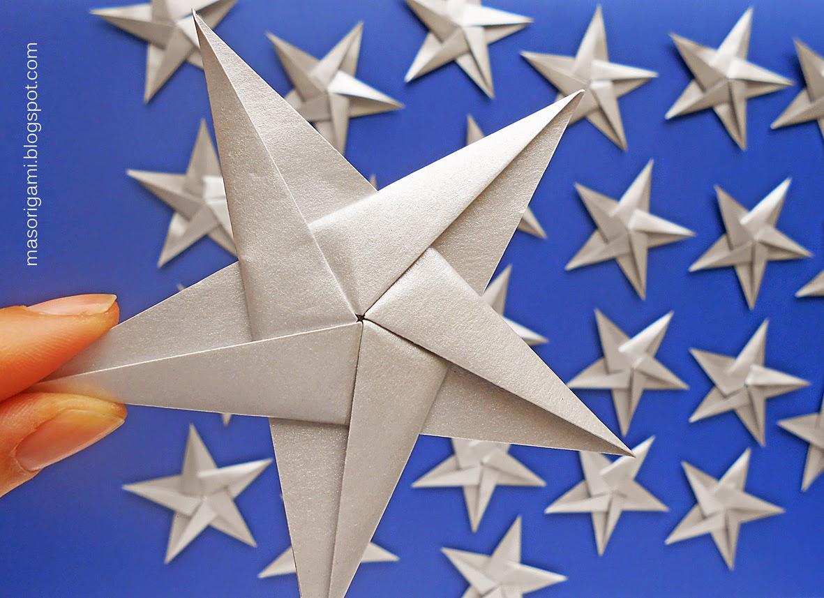 Mas origami noviembre 2014 - Origami de una estrella ...