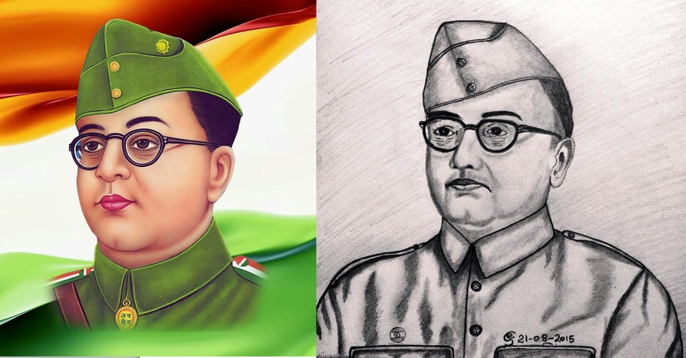 Netaji pencil drawing previewin co uk