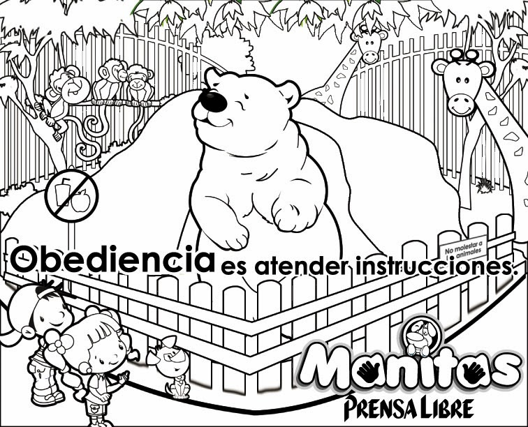 Obediencia para colorear - Imagui