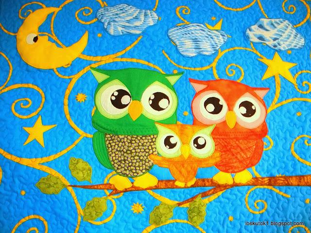 Лоскутное одеяло детское Лоскутное детское одеяло Пэчворк одеяло детское Пэчворк покрывало Сова Лоскутное шитье совушки Пэчворк плед совы Пэчворк покрывало купить Лоскутное шитье совушки Рукоделие