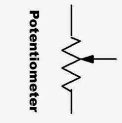Potentiometer Diagram Symbol on electrical schematic symbol potentiometer