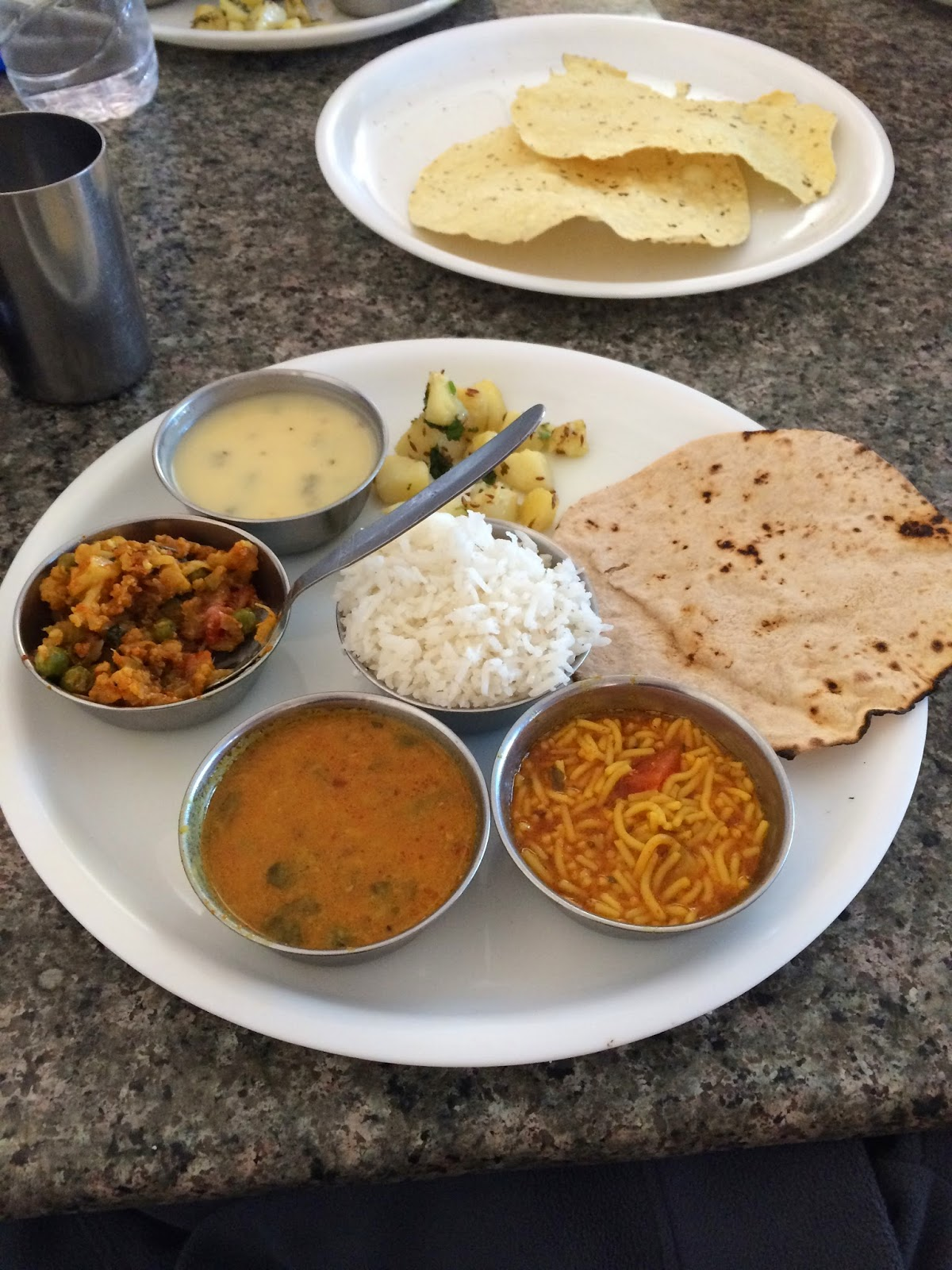 Standard Indian lunch