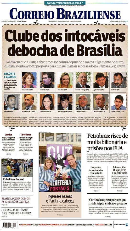 Só fuzilando: deputados distritais de Brasília querem legalizar a impunidade