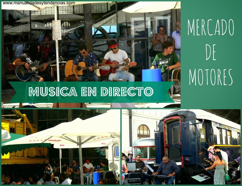 Música en vivo en el mercado de motores de Madrid