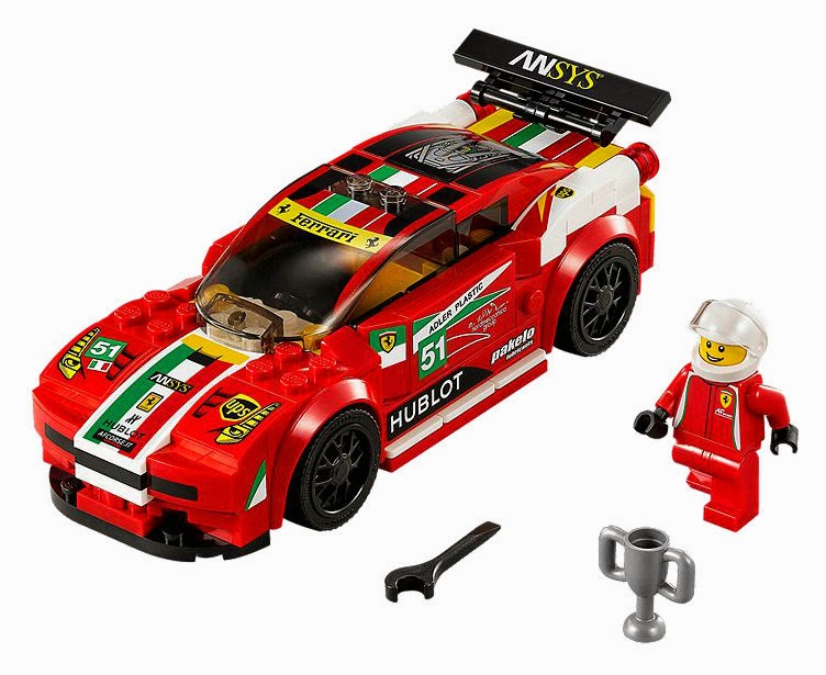 Speed Champions 458 Italia GT2 Race car in LEGO