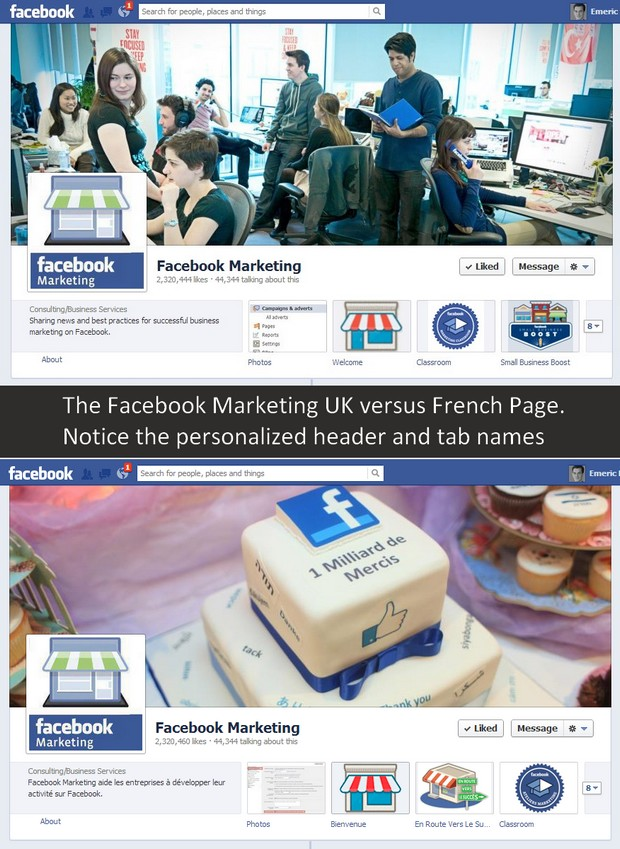 Facebook Marketing -  Global Page